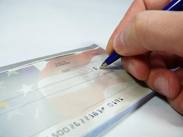 כתיבת צ'ק בנקאי ללקוח מוגבל