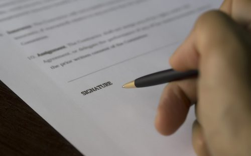 business, signature, contract